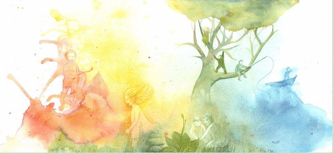 laimingi vaikai, piešinys, Edita Lisauskienė